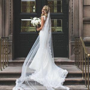 Pnina Tornai French Lace Wedding Dress
